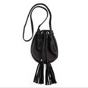 NWT JJ Winters Ellie leather crossbody purse black